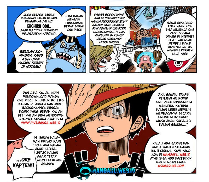 One Piece 638 versi Teks